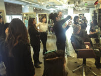 Curling Hair Cutting Class with René Furterer
