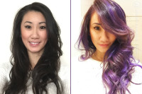 Playing with creative colors: Violet Ombré